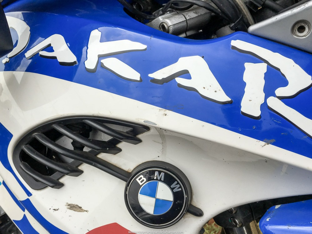 BMW 650 Dakar detail.